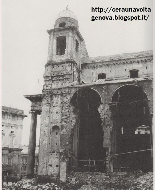 Foto bombardamento Chiesa della Nunziata GE