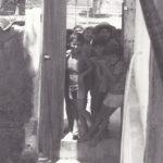 Bambini all'entrata della missione