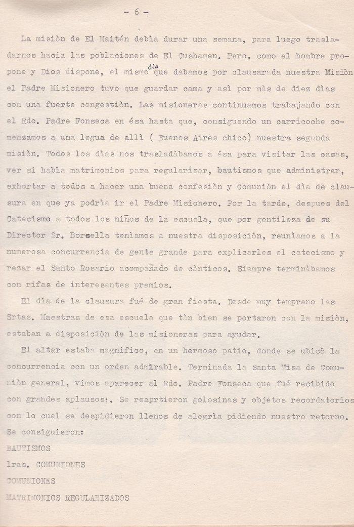 Misiones Rurales argentinas 1954-1955. Grupo integrado por el Rdo. Padre Urbano