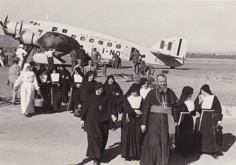Dire Dawa. Arrivo del quarto gruppo delle missionarie 1940