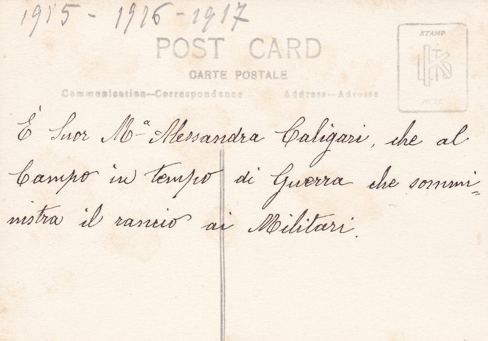 Sr. M. Alessandra Caligaris Cormons Campo 1230 1916 v