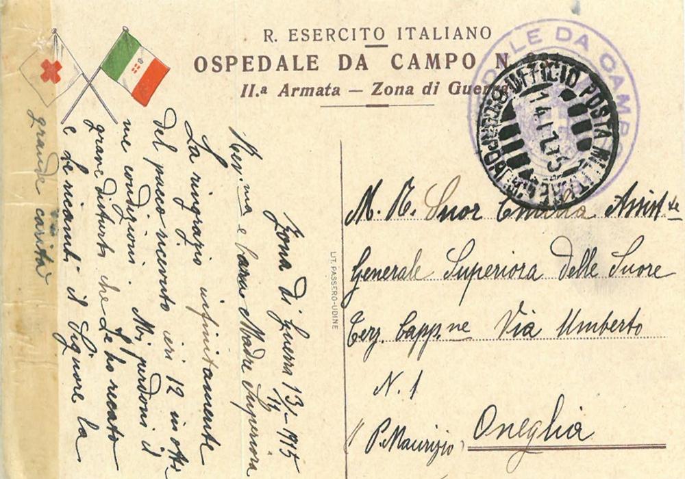 Cartolina postale in uso nelle zone di guerra (14 nov. 1915)