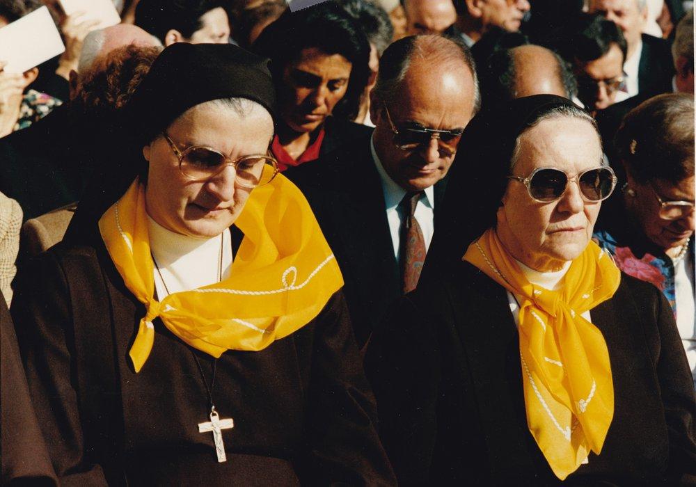 La Madre generale sr. Vincenza Leoni e la sua Vicaria sr. Silvia Frigeni