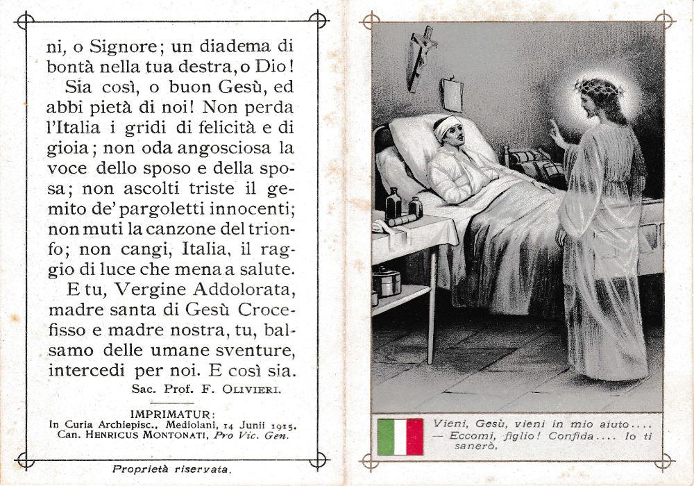 Preghiera del soldato ferito italiano