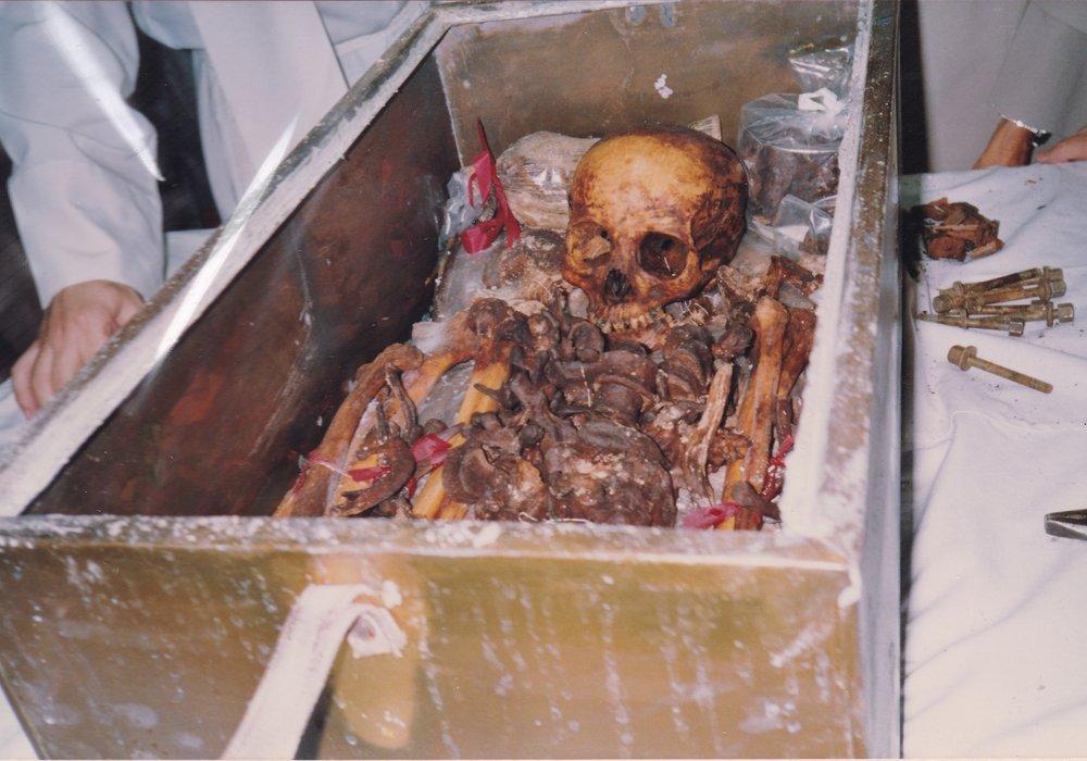 Montevideo 1993. Come apparivano i sacri resti (2)
