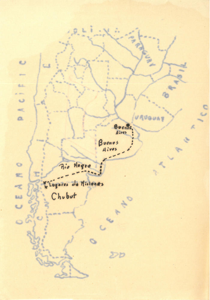 Patagonia. Itinerario delle missionarie