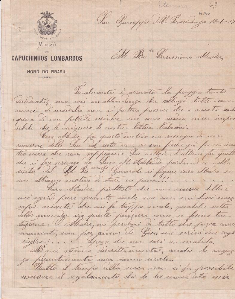 Lettera del 10 gennaio1901 1^ parte