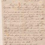 Lettera del 20 settembre 1899 1^ parte