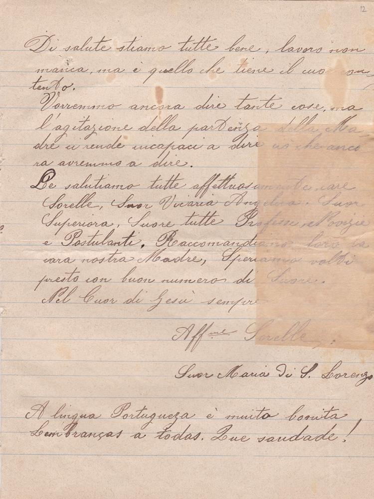 Lettera del 20 settembre 1899 3^ parte