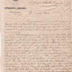Lettera del 23 novembre 1899 recto