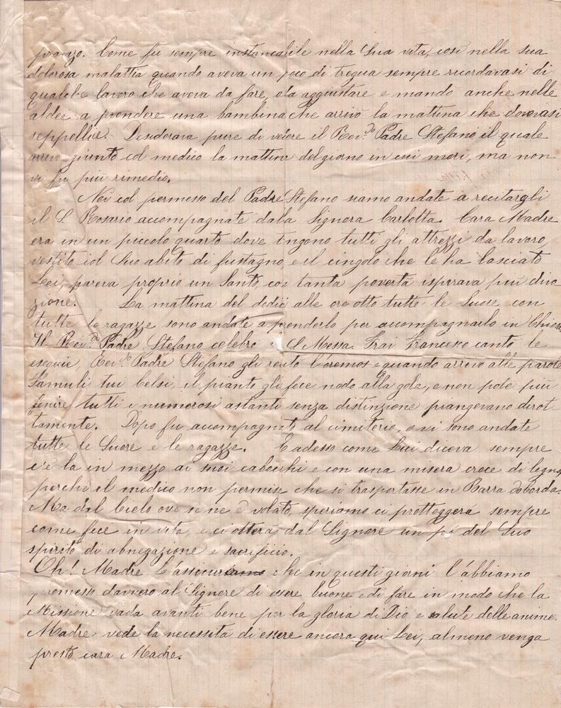 Lettera del 23 novembre 1899 verso