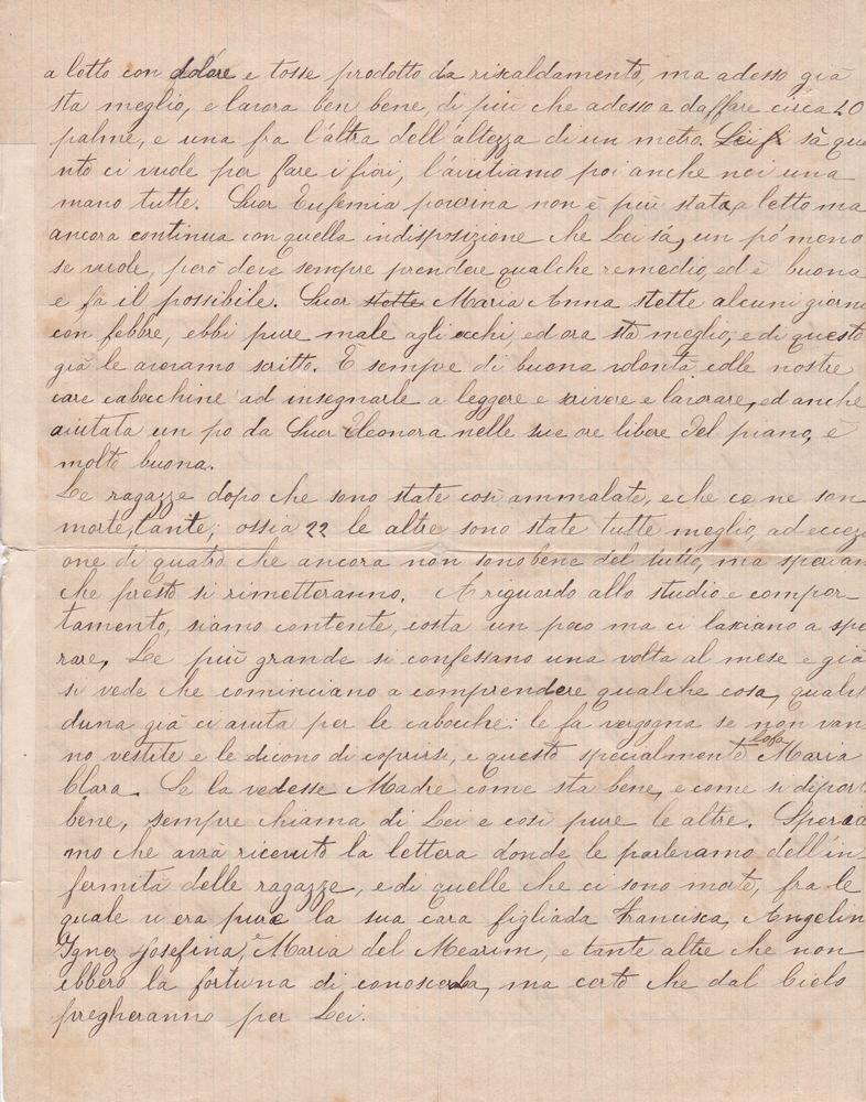 Lettera del 21 maggio 1900 2^ parte