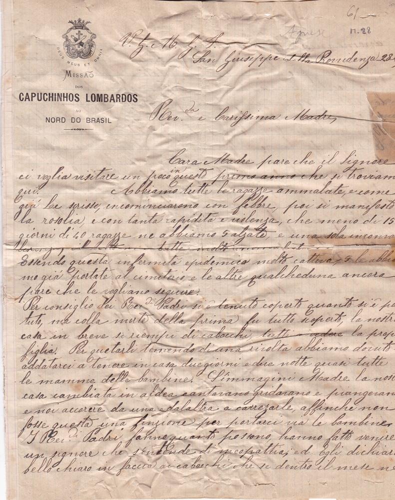 Lettera del 28 febbraio 1900 1^ parte