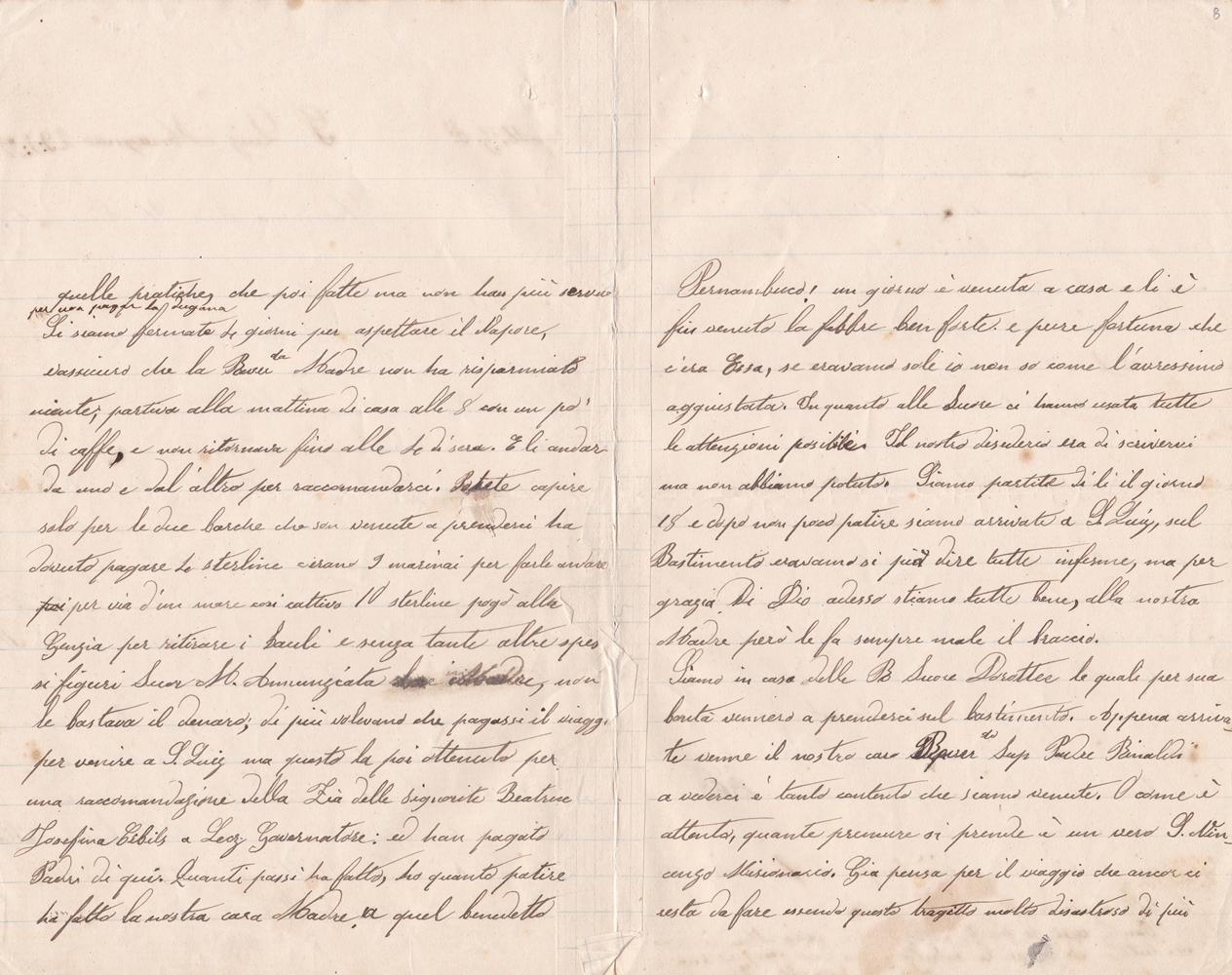 Lettera del 29 maggio 1899 verso