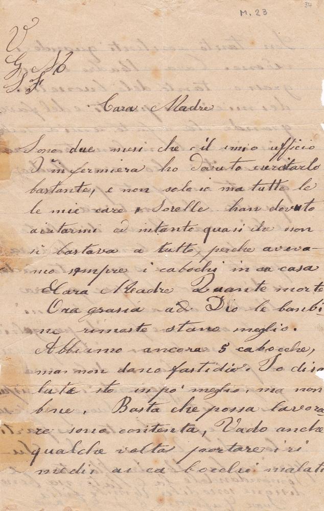 Lettera dell'aprile 1900 recto