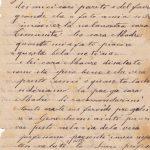 Lettera dell'aprile 1900 verso