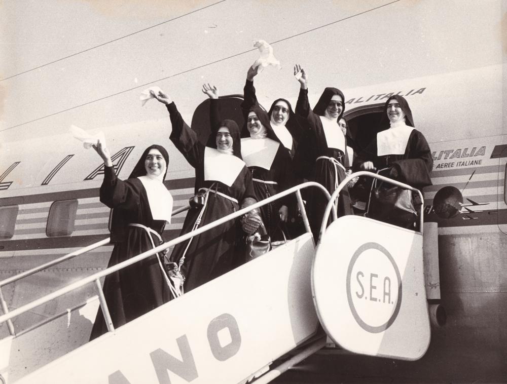 22 agosto 1964 La partenza dall'aeroporto di Linate